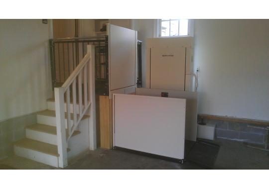 A platform wheelchair lift that was installed for a Williamsburg client.