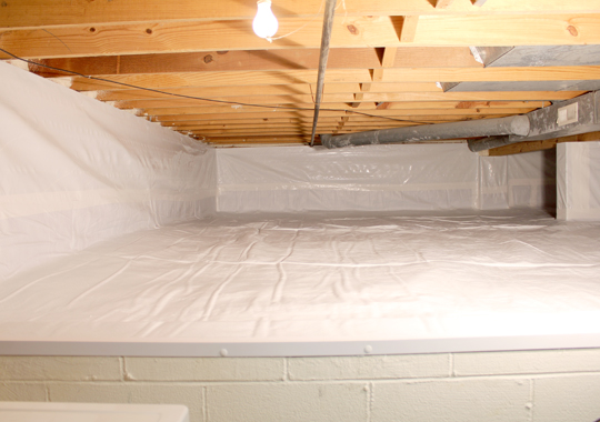 Clean usable crawl space
