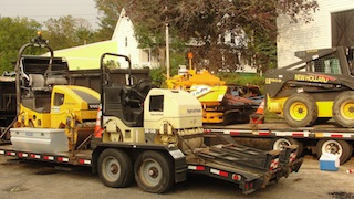Machinery for paving
