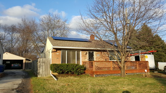 December 22, 2015 Installation of 5.72kW residential solar system in Columbus, OH