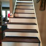 Installed Oak Treads on stairs