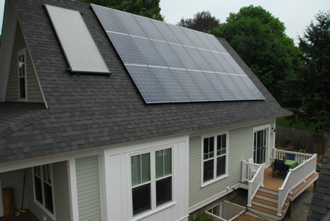 Solar paneling on house