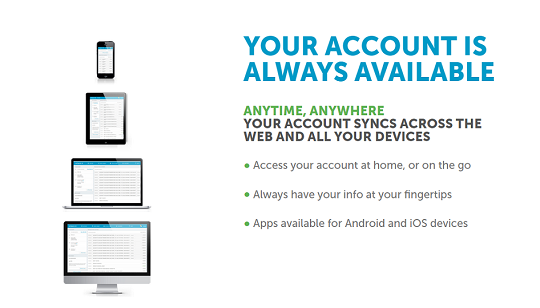 Your account syncs across the web and all your devices