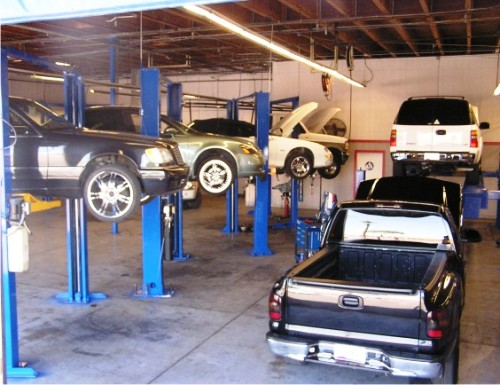 North Transmission Repair bays at Allstate Transmission and Auto Repair of Phx.