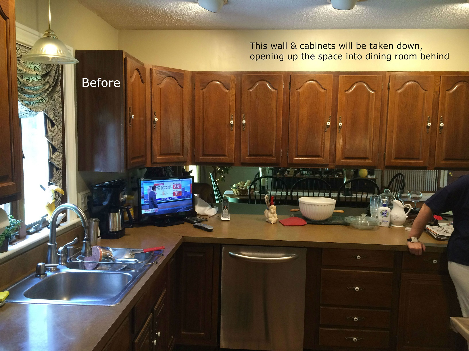 Before - Kitchen remodel.