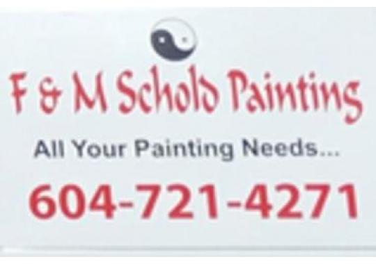 F & M Schold Painting logo