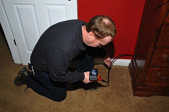 Use of a Boroscope can help inspector see into hard to reach areas.