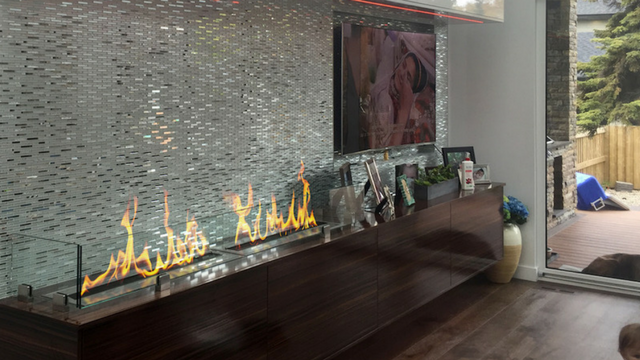 Ventless Ethanol Fireplace built with one or our Ethanol Burners
