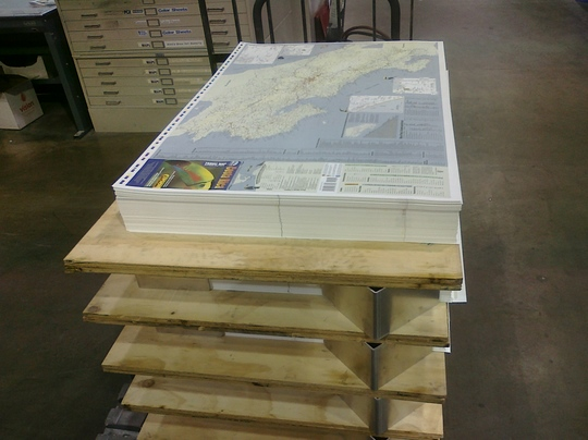 All of our maps are printed on a special synthetic media that is rugged, durable and totally waterproof.