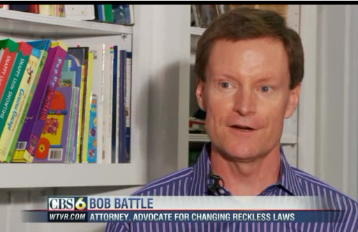 Bob Battle interviewed on CBS about VA's Reckless Driving Laws