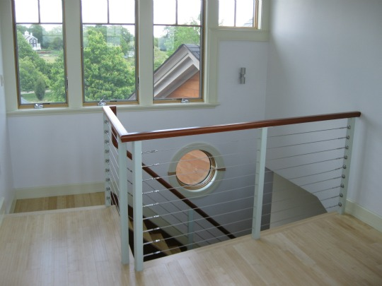 Remodeled staircase and railing
