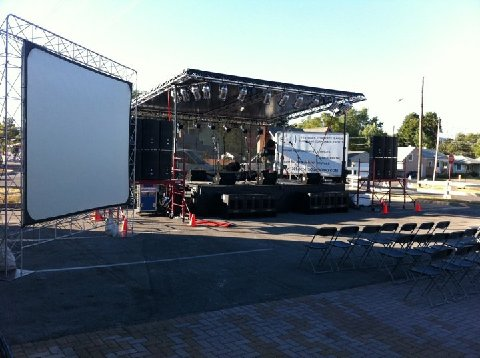 Stage rental, Lighting, Sound and projection