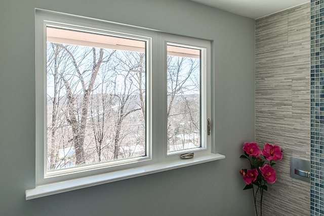 This a perfect window for enlarging the existing small bathroom window. This window provides more daylight and view to the outdoors