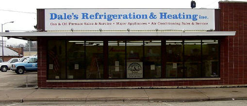View of Dale's Refrigeration & Heating from North Second Street