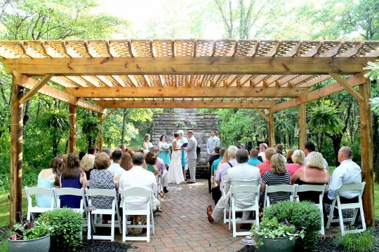 Hold your Reception inside our Log Chapel!