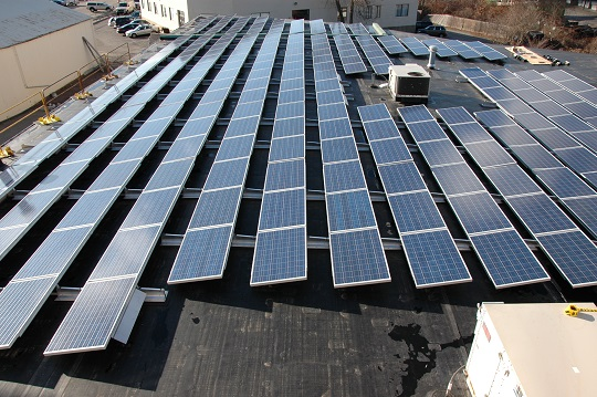 Oriental Furniture has 325 solar panels on our roof and with annual production of over 75,000 kWh we offset 100% of our annual electric consumption!