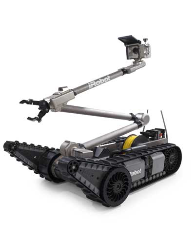 iRobot also develops robots for the military and public safety organizations. The iRobot PackBot® performs dangerous missions while keeping warfighters and first responders out of harm's way.