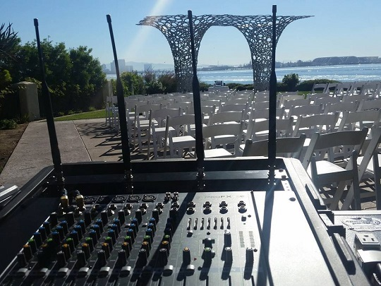 A small Wedding Ceremony system setup for a beautiful Wedding Ceremony at Tom Ham's Lighthouse during Fall 2015!