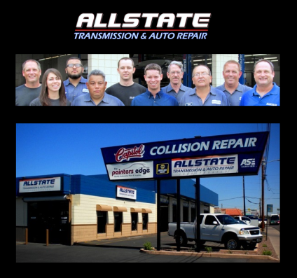 The all star team and our shop at Allstate Transmission Repair in Phoenix, AZ