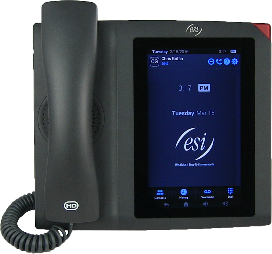We depend on our smart phone in our pocket to communication with the world.  Why shouldn't you have one on your desk? Check on the ESI ePhone 7