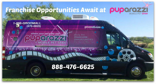 Franchise Opportunities Await you at Puparazzi Mobile Pew Spaw.