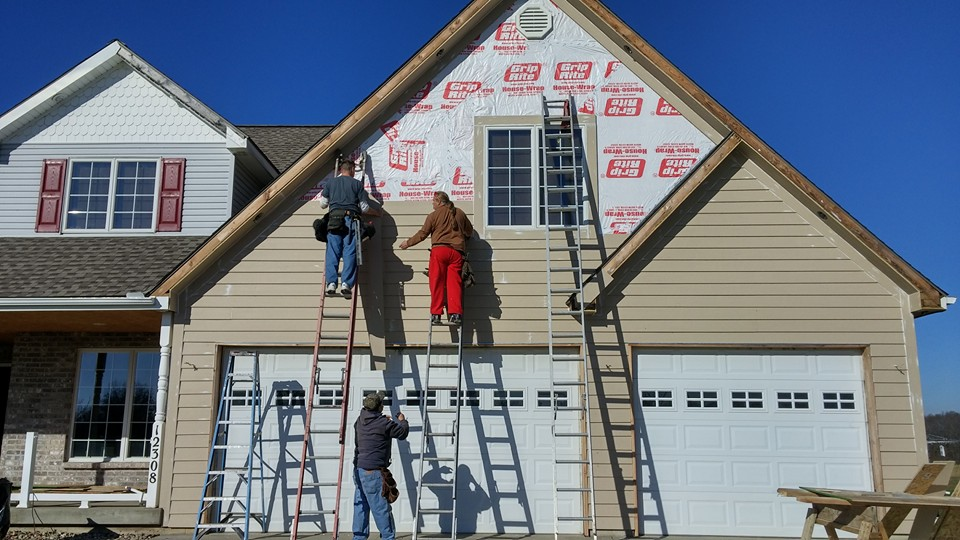Replacing all the vinyl siding and replacing with smart siding.