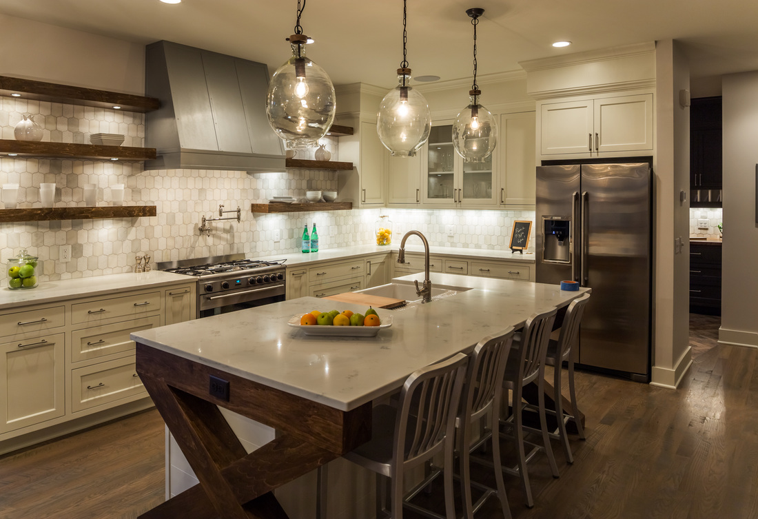 Custom Cabinets, Material & Fixture Selection, Lighting Design