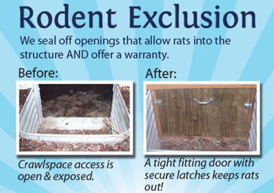 Rodent Exclusion Before and After