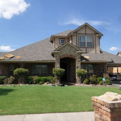 Beautiful new roof, gutters, downspouts, garage door and more!