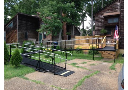 This ramp was installed for a PACE participant.
