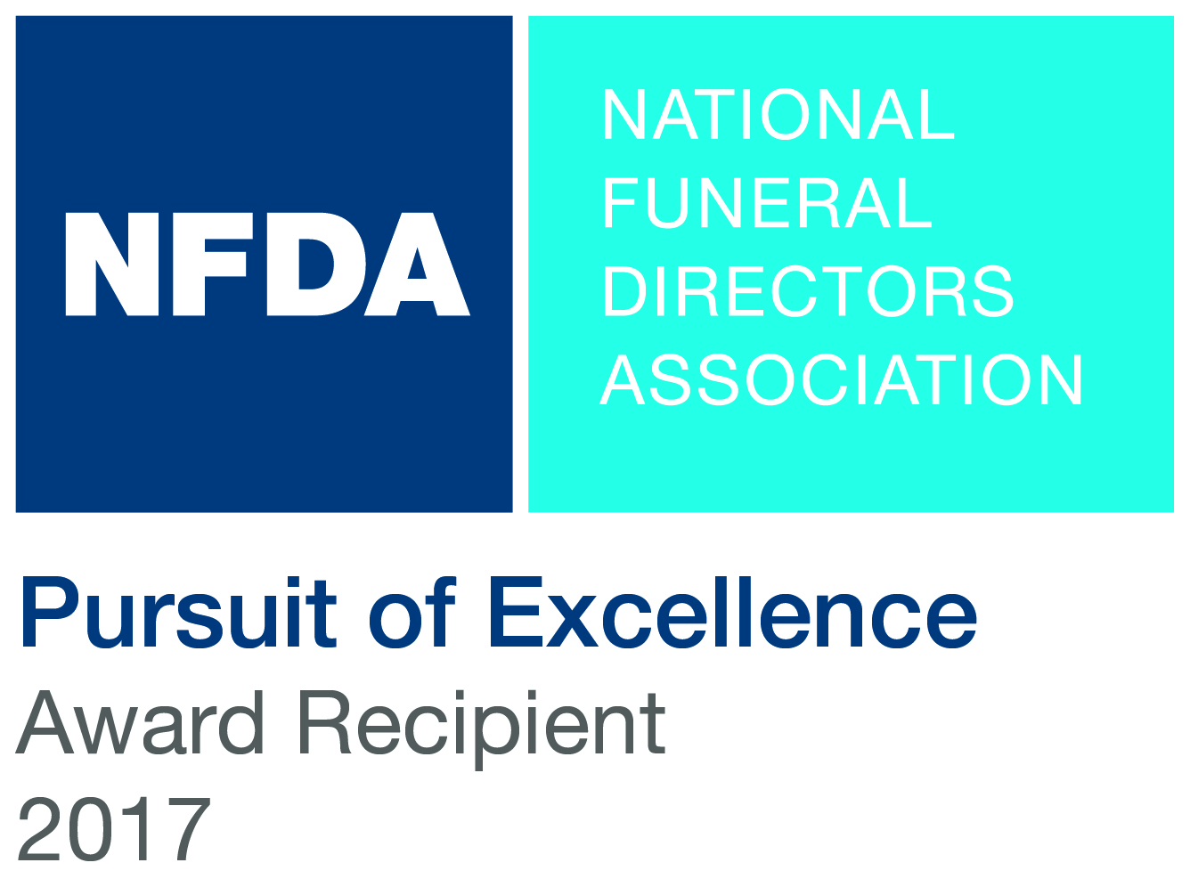 NFDA - Pursuit of Excellence Award Recipient 2017