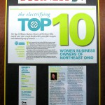 Plain Dealer report on the National Association of Women Business Owners Top 10 Award