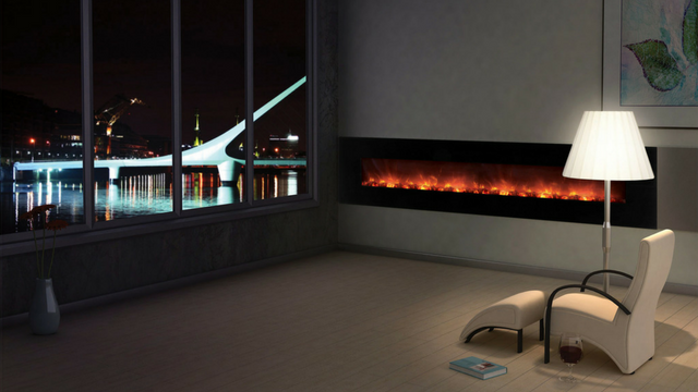 Large Linear Electric Fireplace