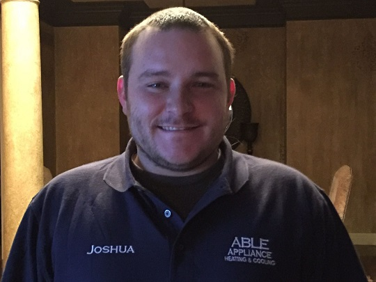 Hi, I'm Joshua. I am a service contractor. I work on stoves and dishwashers but I specialize in heating and cooling! I look forward to working with you!