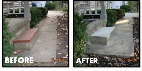 Walkway and Stoop Leveling (removed bricks added by homeowner)