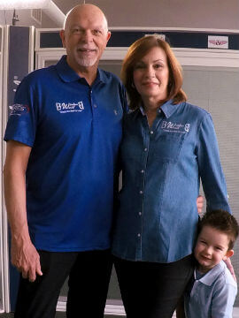John and Karen Schumer with Grandson, Maddock Schumer. The youngest member of the Window World of Rhode Island family.