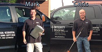 Mark and Chris, Integrity Roofing Owners