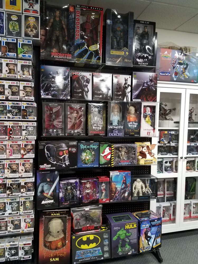 Just a few of the hundreds of figures we have in stock.