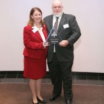 Paul Helm and Marlene Herman receiving the BBB Integrity Award