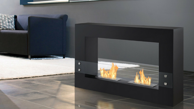 Free Standing Ethanol Fireplace