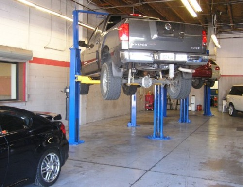 South Transmission Repair service bays at Allstate Transmission and Auto Repair in Phx, Arizona.