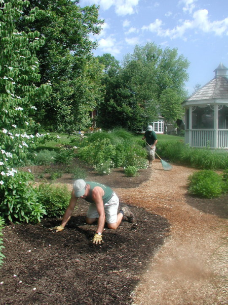 Mulch can help redefine your existing landscape beds when installed in conjunction with spring clean up.