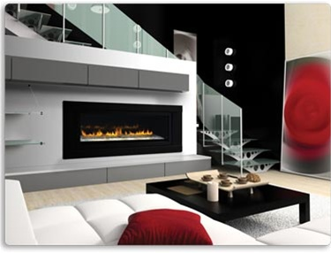 Napoleon LHD50 See-Thru Gas Fireplace.