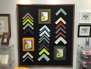 Reed Arts offers acrylic frames by Prisma -- customized for YOU, from a selection of many colors, patterns, and shapes.