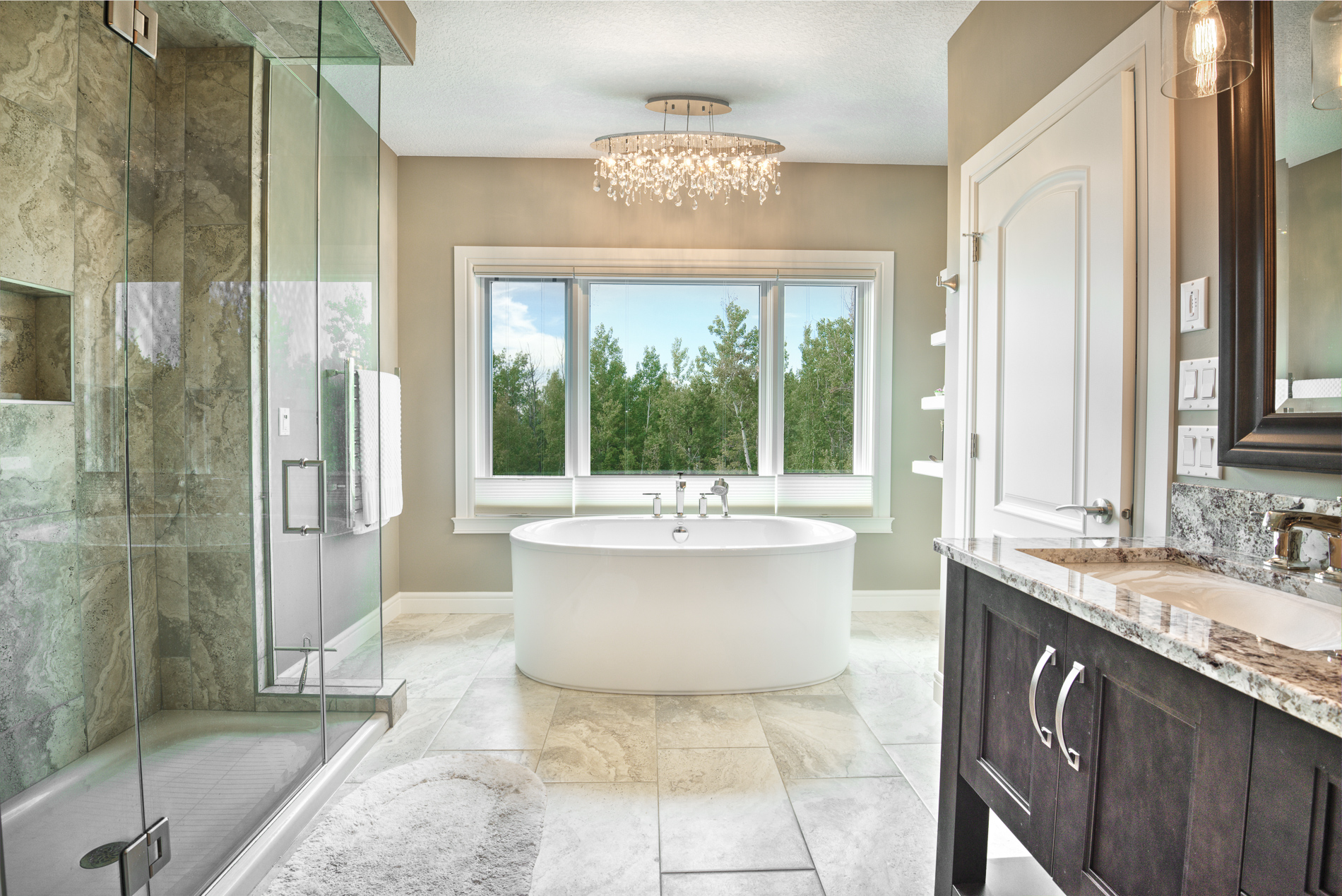 Private ensuite to relax in.