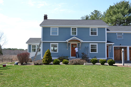 Blue House Front View