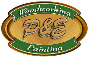 P & E Woodworking & Painting logo