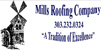 Mills Roofing Company logo
