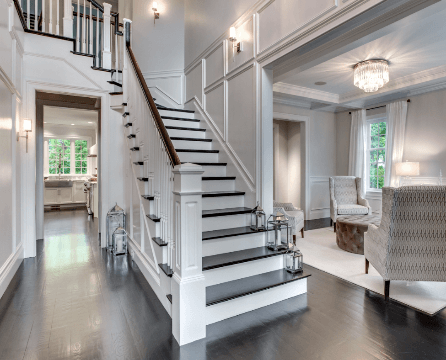 Modernized Colonial Staircase