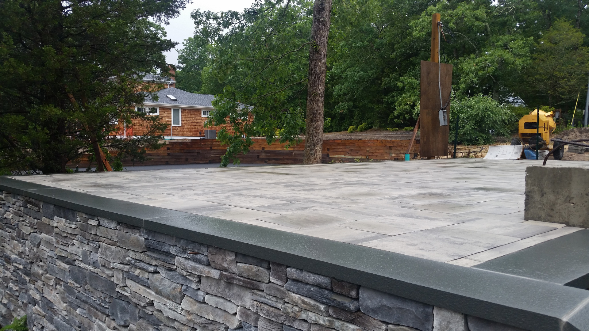 Cultured Stone Wall, Bluestone, Pavers in Westhampton Beach, New York